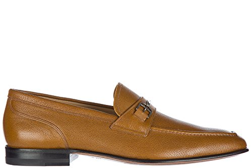Mens Oxford Bally (BALLY Men's Leather Loafers Moccasins Brian Brown US Size 7.5 6198506)