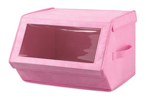 Pink Hat Box (Whitmor Stackable Window Storage Box)