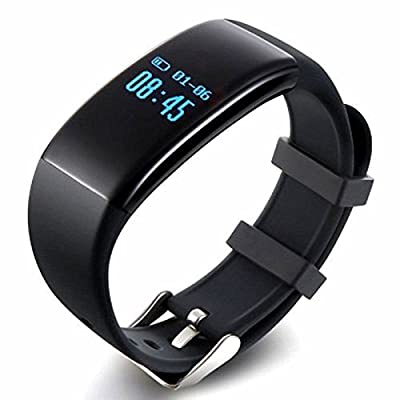Anortime Heart Rate Monitor Waterproof Smart Band Wireless Bluetooth Fitness Activity Tracker Sleep Wristband Pedometer Exercise Walking Tracking Walk Sports Bracelet and more Smartphones and Tablets