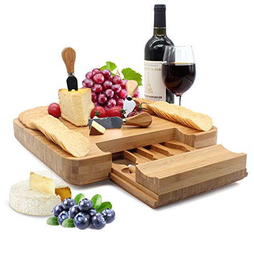 Bamboo Cheese Board Set (Thickened Type 13