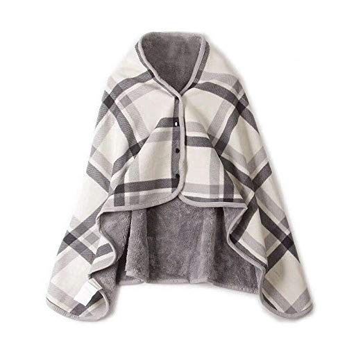 (Clearance Sale ! Womens Blanket Scarf,Vanvler Ladies Poncho Wrap Shawl Multifunction Doublelayer Tartan Plaid Winter Warm Blanket (135/80 cm = 51.1/31.4 inch, A))