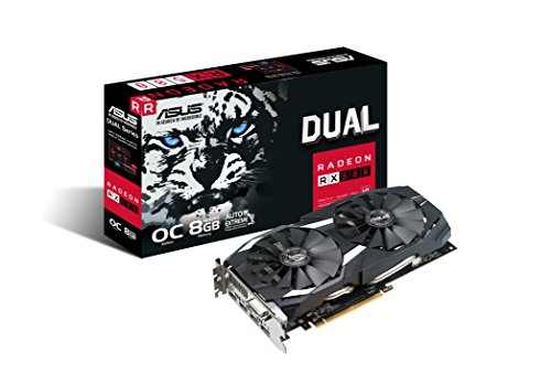 (ASUS Radeon RX 580 8GB Dual-fan OC Edition GDDR5 DP HDMI DVI VR Ready AMD Graphics Card (DUAL-RX580-O8G))