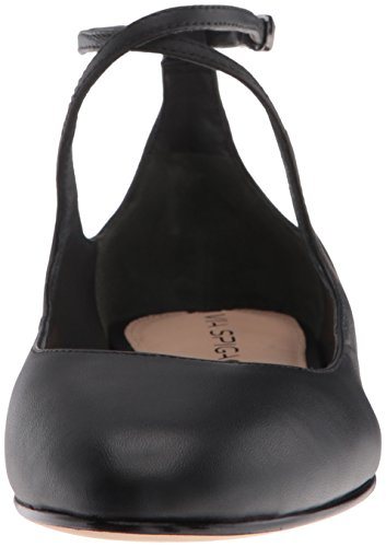 Via Matte Black Leather beige Ballerine EU 39 Donne donna Nude Leather Nappa Spiga XqwX1rf