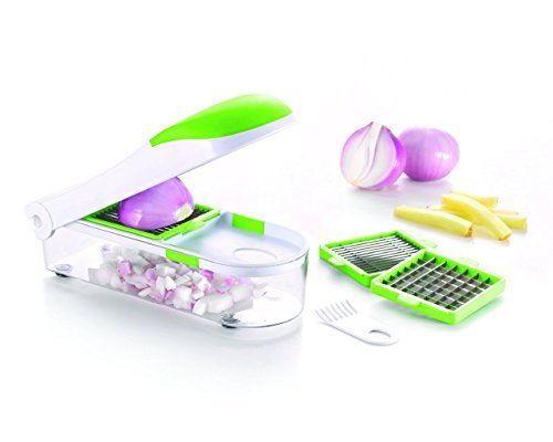 Homemaker No Tears Onion Chopper, Slicer, Dicer and Grater, Heavy Duty Vegetable, Fruit,Cheese Cutter, 3 Blades Set