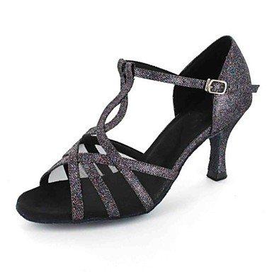 Tacón Personalizado Rojo de Personalizables Gris Latino grey Zapatos baile q1UB61v