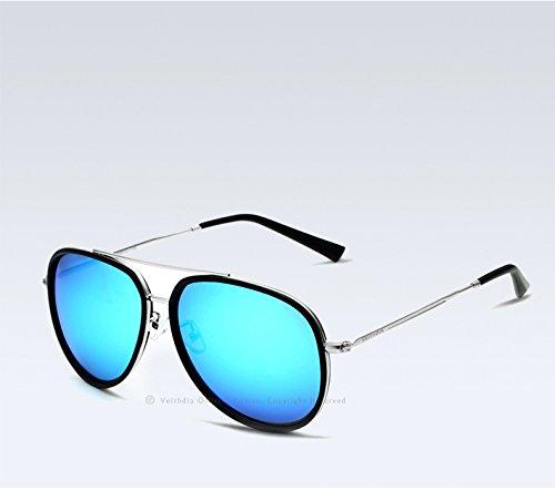 Aire Gafas Conducen Polarizado Masculino Vacaciones Azul Sol De Libre Viaje Limotai Que Revestidas Solgafas Espejo Color Al Ax66qHv