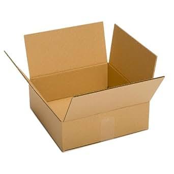 "Pratt PRA0069 100% Recycled Corrugated Cardboard Box, 13"" Length x 10"" Width x 4"" Height (Pack of 25)"