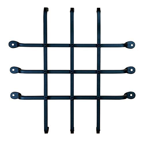 Large Speakeasy Grille, Window Grille, Forged Iron (sale price) by DrillTop