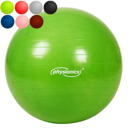 Gymnastikball 85cm Happy Gras (grün) Fitness- / Sitzball inkl. Pumpe