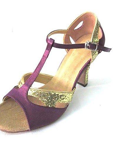 ShangYi Maßgefertigter Absatz - Satin/Glitter - Latin - Damen Purple