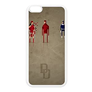 8Bit - Marvel Daredevil White Silicon Rubber Case for iPhone 6 Plus by DevilleArt + FREE Crystal Clear Screen Protector