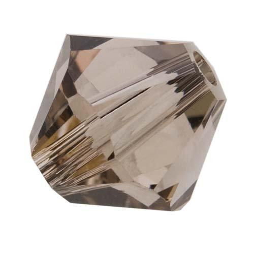 Swarovski Crystal, #5328 Bicone Beads 4mm, 24 Pieces, Greige (Bicone Greige)