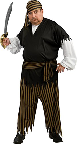 Pirate Theme Party Costume Ideas (Rubies Mens Caribbean Pirate Buccaneer Suit Theme Party Fancy Costume, Plus (44-52))