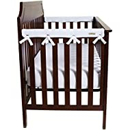 """Trend Lab Waterproof CribWrap Rail Cover - For Narrow Side Crib Rails Made to Fit Rails up to 8"""" Around. Pack of 2!"""