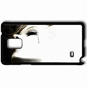Personalized Samsung Note 4 Cell phone Case/Cover Skin Maria Close Up No Logo Black