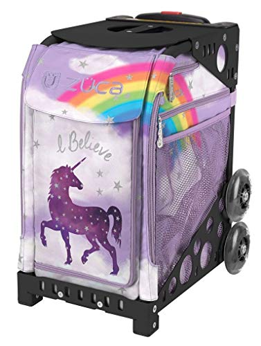 ZUCA Unicorn Sport Insert Bag and Black Frame with Non Flashing ()