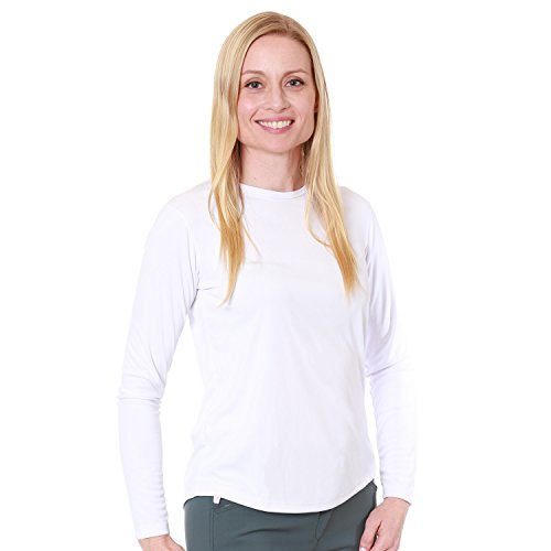 Nozone Curve Long Sleeved Sun Protective Shirt for Women in White, XX-Large