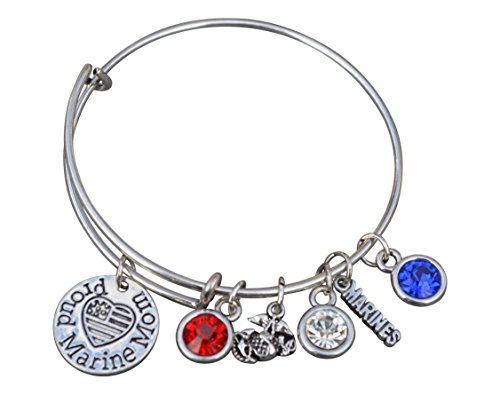 us-marine-corps-mom-bracelet-proud-marine-mom-charm-bracelet-makes-perfect-mom-gifts