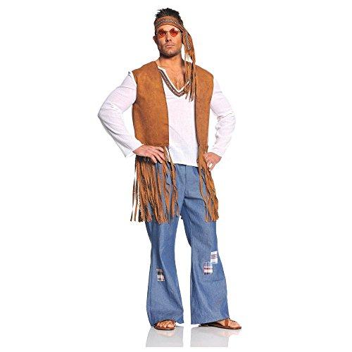 Under (Faux Suede Hippie Vest Adult Costumes)