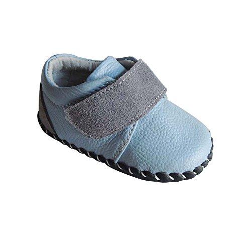 Kuner Infant Baby Boys Girls Genuine Leather Soft Bottom Non-slip First Walkers Shoes
