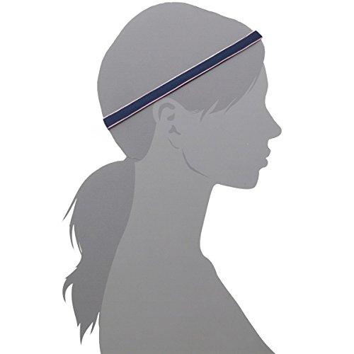 Set of 6 Mini Headband Hot Yoga Workout Running Fitness Sports Hiking Volleyball Golf Basketball Athletic Mini Sweatband Headbands Black Gray Red White Blue for Women Men Boy Girl