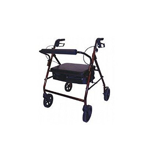 Roscoe Medical - Bariatric Rollator with Padded Seat (Burgundy) - CM by Roscoe Medical