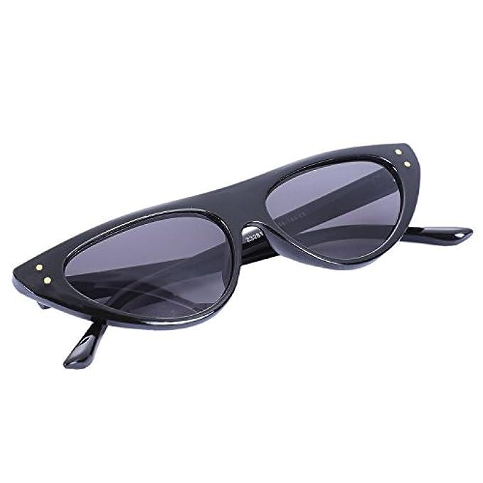Uv400 Le Vintage Donna Occhiali Xzante Donne Sole Triangolo Triangolare A Per Con Cateye Forma Retro' Di Eye Montatura Nero Cat Da
