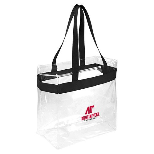 CollegeFanGear Austin Peay Game Day Clear Stadium Tote 'AP Austin Peay Governors - Official Athletic Logo' by CollegeFanGear