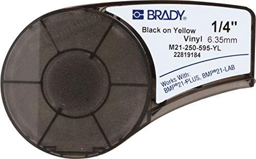 Brady M21-250-595-YL Cartridge, B595 Vinyl Indoor/Outdoor Material, 0.25