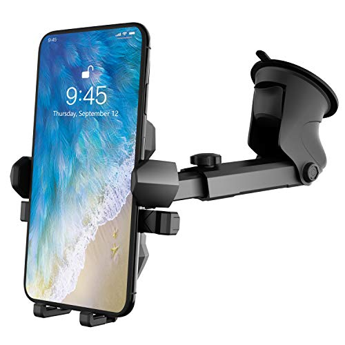 Upgraded Cell Phone Holder for Car, Universal Manords Dashboard Windshield Car Phone Mount Compatible with iPhone 11 Pro…