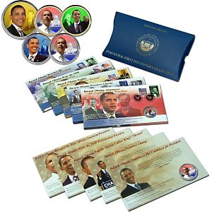 Obama First Day Set of 5 Stamp Covers