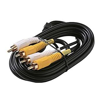 Amazon.com: 6\' FT Dual RCA Cable 2 Male to Male Composite Video ...