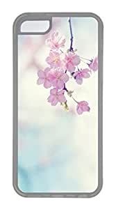 iPhone 5C Case, Customized Protective Soft TPU Clear Case for iphone 5C - Flower Cover