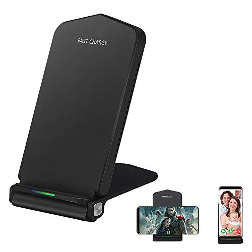Wireless Charger Station, weton Fast Wireless Charger Stand Foldable Qi Wireless charging pad wireless charger Compatible for All Smartphones