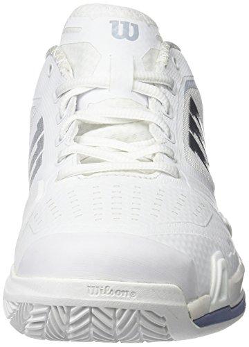 Wilson Damen Rush Pro 2.0 Clay Court Tennisschuhe Elfenbein (White / Pearl Blue / Stonewash)