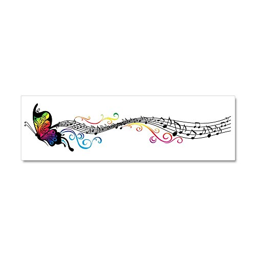 CafePress - Butterfly Music Car Magnet 10 x 3 - Car Magnet 10 x 3, Magnetic Bumper Sticker