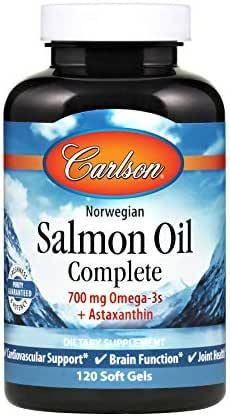 Carlson Salmon Oil Complete, Norwegian, 15 Fatty Acids, 120 Soft Gels