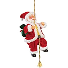 Animated Musical Climbing Santa on Chain