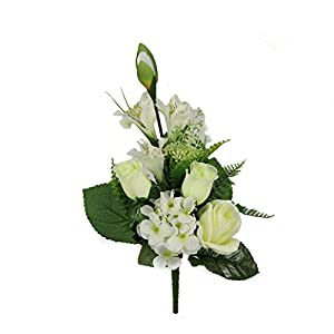Admired By Nature Artificial Rose Bud and Stromeria Small Bushes for Home 39