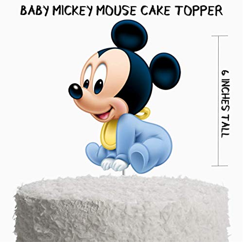 Baby Mickey Mouse Cake Topper, Mickey Mouse Baby Shower Supplies, Mickey Mouse 1st Birthday Party -