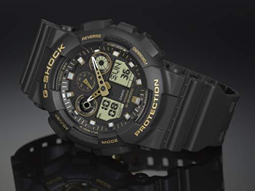 Casio Men's G-Shock XL Series Japanese Quartz Watch with Silicone Strap, Black, 28 (Model: GA-100GBX-1A9) 2
