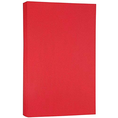 Printable Paper Program (JAM PAPER Legal Colored 24lb Paper - 8.5 x 14 - Red Recycled - 100 Sheets/Pack)