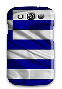 COZmPOY2578UtHnF Greece Flag Blue White Horizontal Stripes World Nature Other Awesome High Quality Galaxy S3 Case Skin