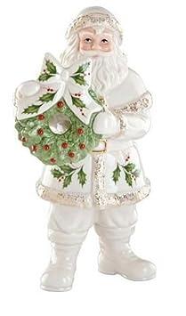 Lenox Santa with Wreath Figurine