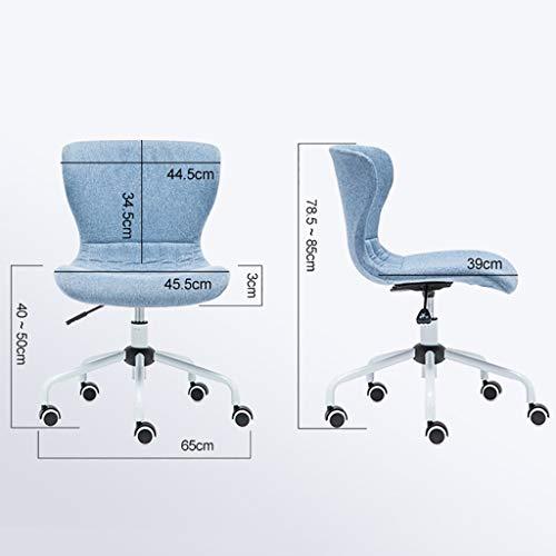 Kontorsstol, liten kompakt stol för hemmet, tyg datorstol (färg: B)