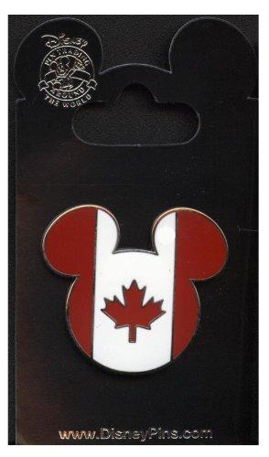 [Disney Pins - Epcot World Showcase - Mickey Head & Ears - Canada - Pin 952] (Canada Collectible Pin)