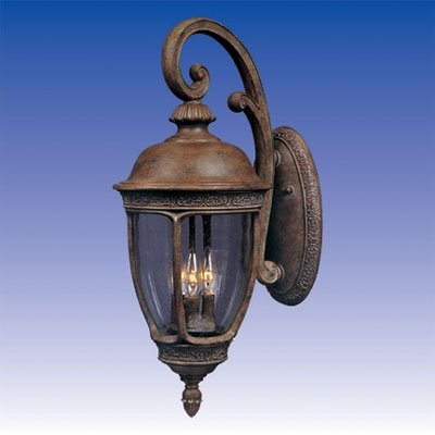 Hill Vx Knob Knob (Maxim Lighting 40465CDSE 3 Light Outdoor Wall Light, Sienna)