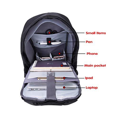 6 Portable 15 usb Et 1 15 Charging Femmes Antivol Ubaymax Avec Pour Port Imformatique Imperméable Sac Ordinateur Hommes 6noir D'affaires Pc Usb Bleu wzq1Pg