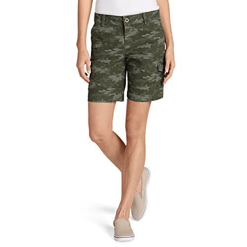 Eddie Bauer Womens Short (Eddie Bauer Women's Adventurer Stretch Ripstop Cargo Shorts - Camo - Slightly C)