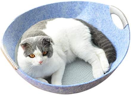 PLDDY Nido de Gato, casa de Gato, Cama de Mascota para Animales pequeños, Cuatro Estaciones de Suministros universales para Mascotas (Color : Azul Claro)